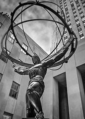 AtlasIMG3056EdBW5x7v2Ed (rbnaso) Tags: newyorkcity sculpture art statue rockefellercenter atlas artdeco leelawrie renepaulchembellanin