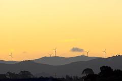 Wind of Change (Myreality2) Tags: sunset newzealand orange windmill wind events hamilton windy waikato