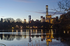 Tall Building Reflection (Lojones13) Tags: lake newyork cityscape centralpark relections