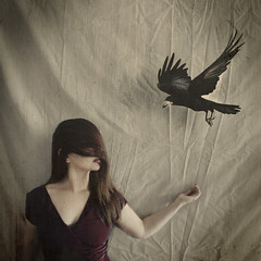 strength in the blindness. (Stellie Chavez) Tags: fineartphotography fineart bird raven crow surrealphotography conceptualphotography conceptphotography conceptual selfportrait selfportraitphotography elliechavezphotography