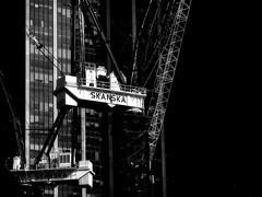 World Trade Center Transportation Hub, NYC (SG Dorney) Tags: bw nyc ny newyorkcity manhattan downtown worldtradetransportationhub wtc lowermanhattan skanska crane construction canoneos60d