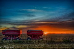 Iowa Sunrise (DonMiller_ToGo) Tags: hdr 5xp landscape hdrphotography farming fall outdoors iowa sunrise d810 sky clouds