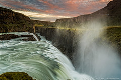 Walking Gulfoss (Juan C Ruiz) Tags: 500px colorefex nik suurland islandia gulfoss waterfall water sunset