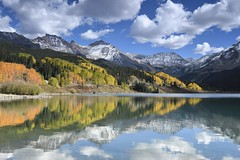 Molas Lake along 550, Colorado (jkrieger84) Tags: nikon d500 landscape nature lake blue sky colorado reflection molaslake san juans aspens fall color