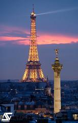Good night Paris (A.G. Photographe) Tags: anto antoxiii xiii ag agphotographe paris parisien parisian france french français europe capitale d810 nikon sigma 150600 bastille toureiffel eiffeltower colonnedejuillet géniedelabastille bluehour