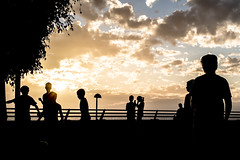 Callao Salvaje, Tenerife (mikaelivanroost) Tags: jeu game playing football kids enfants atlantique atlantic ocean ocan clouds nuages soleil plage beach sunset couchant ciel sky outdoor