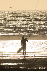 The surfer (ramosblancor) Tags: humanos humans naturaleza nature paisaje landscape costa coast playa beach deportes sports kitesurf kites cometas playadeloslances tarifa cdiz espaa spain mar sea viento wind chico hombre man surfero surfer silueta silouette contraluz backlight