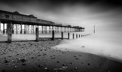 Grand Pier Teignmouth (Mihai Penghios) Tags: grand pier teignmouth long exposure beach ocean sea black white bnw bw teignbridge south devon england uk clouds