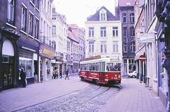 Once upon a time - Belgium - Antwerpen / Anvers (railasia) Tags: belgium flanders antwerpen anvers miva metergauge routenº11 motorcar pcc infra singletrack eighties