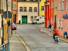 Hof - Vorstadt / Unteres Tor (GerWi) Tags: hof outdoor stadt strase street scene altstadt gemeinde landstrase brgersteig gasse