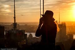 Top of the rock (argazkimeanspicture) Tags: newyork estadosunidos us girl topoftherock rockefeller top rock sunset skyline skyscrapper rascacielos hm