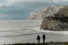 (frattonparker) Tags: nikond600 tamron28300mm raw lightroom6 isleofwight englishchannel chalkdownland cliffs people surf surfing surfers silhouette house headland lamanche frattonparker btonner sup