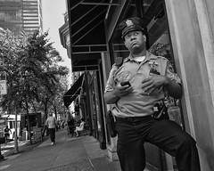 Chestnut Street, 2016 (Alan Barr) Tags: chestnut street sp streetphotography streetphoto blackandwhite bw blackwhite mono monochrome candid people ricoh gr police