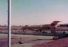 N723RW Boeing 727-2M7 cn 21202 ln 1221 Hughes Airwest Phoenix Sky Harbor 17Oct78 b (kerrydavidtaylor) Tags: phoenixskyharborinternationalairport phx kphx arizona boeing727 boeing727200