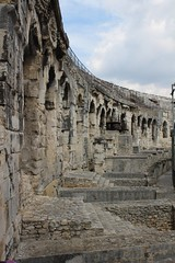 Nimes Roman Ampitheatre (big_jeff_leo) Tags: nimes france roman temple arena building stone ancient architecture city facade fountain french empire old pilar column