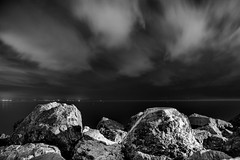 Waiting... (Tomislav C.) Tags: adriatic adriaticsea croatia hrvatska kvarner pentax pentaxk3 rijeka volosko bw black blackwhite blackandwhite boat boats cloud clouds cloudy exposure landscape landscapes long monochromatic monochrome natural nature night nights panorama pier rain rainy sky
