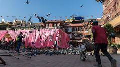 Too many pigeons!!! (Kompakin Borwornpakramil) Tags: canon 1dx markii ef2470mmf28liiusm travelphotography moodandatmosphere kathmandu centraldevelopmentregion nepal np tourists boudhanath people streetphotography pigeon
