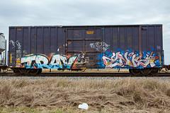 (o texano) Tags: texas graffiti trains freights bench benching trav msk knist zee