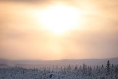 Sunset, 2 pm (frostnip907) Tags: sunset alaska snow arctic subarctic icefog fog