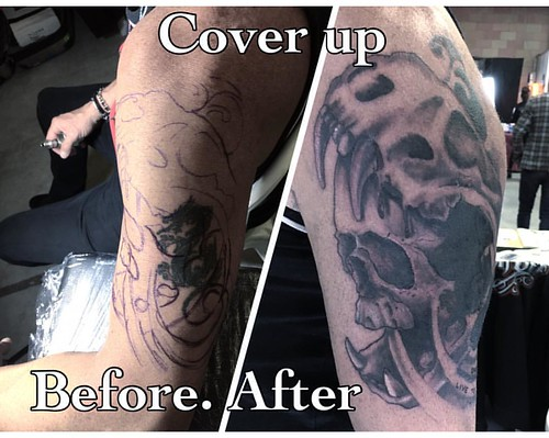Cover up skull tattoo #coveruptattoo #skulltattoo #1337tattoos #toniatutattootattooclubnoceto #inked #inkedmagazine #inkedskin #tattoo #tattoolife