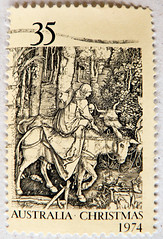 "great xmas stamp Australia 35c ""Flight into Egypt"" by Albrecht Drer 1471-1528 (Flucht nach gypten, Huida a Egipto, Fuga in Egitto, Fuga para o Egito, Menekls Egyiptomba,   ) christmas postage 35c Briefmarken Weihnachten Australia frimerk (thx for sending stamps :) stampolina) Tags:    australia australien   stamps stamp  briefmarke briefmarken  postzegel zegel zegels    znaczki  frimrker frimrken frimerker   bollo francobollo francobolli bolli postes timbres sello sellos selo selos raztka  blyegek markica antspaudai  pullar tem perangko jul christmas  kerstmis joulu weihnachten noel navidad  natal  natale  boe   ziemassvtki kaldos holynight postapulu"