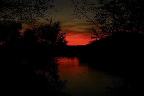 Donau bei Melk im Sonnenuntergang