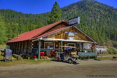 The Yellow Pine Cafe (jimgspokane) Tags: forests trees camping idahostate mountains mountainroads