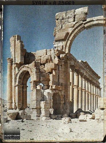 Syrie, Palmyre, Entrée de la rue Centrale à Colonnade, le 1er portique