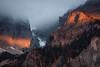 tales of a cold and shiny world (STEPtheWOLF) Tags: mountain morning sunrise spotlight rock face snow sky fog mist tree forest sun adventure hike austria styria hochschwab canon 5d3 135l