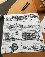 Napkin sketches Sydney (panda1.grafix) Tags: sydneyharbour sketch blackandwhitesketch napkin