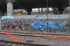 Jag, Grope (NJphotograffer) Tags: graffiti graff new jersey nj newark trackside rail railroad jag grope dna mhs md crew