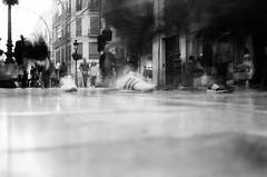 this boots are made for walking (by adidas).... (thomasmika225) Tags: leica leicam4p film analog kodak voigtlanderwideanglecolorskoparpan35mmf25m pii manual focus m monochrome blackandwhite noiretblanc sw bw street streetphoto urban thomasm adidas malaga