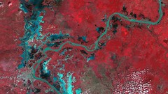 Phnom Penh and the Mekong Basin, Cambodia. (DMCii) Tags: dmc dmcii ukdmc ukdmc2 dmc2 thedmcconstellation eo earthobservation nir nearinfrared satellitedata satelliteimages cambodia river clouds landscapes nature phnompenh mekongriver cities forest agriculture water lakes vegetation remotesensing gis mapping landcovermapping urban