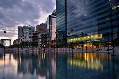 Takis Basin (Sizun Eye) Tags: urban city reflections takis basin buildings businessdistrict paris ladfense hautsdeseine iledefrance france grandearche sizuneye tamron2470mmf28 nikond750 leefilters longexposure le