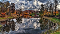 IMG_2367-69Ptzl1scTBbLGE (ultravivid imaging) Tags: ultravividimaging ultra vivid imaging ultravivid colorful canon canon5dmk2 farm clouds sunsetclouds scenic rural vista trees autumn autumncolors fall water reflections stormclouds barn