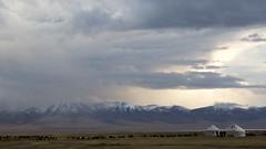 Song Kul Lake, Kyrgyzstan (José Rambaud) Tags: songkol songkul lake lago tienshan mountains montaña kyrgyzstan kirguistan asia asiacentral centralasia rutadelaseda silkroad viaje landscape paysage paisaje paisagem travel traveler snow snowcapped snowy nieve nubes clouds storm snowstorm