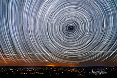 The Great Valley Star Trails (Terry Aldhizer) Tags: star trails great valley overlook blue ridge mountains parkway virginia night stack 680 terry aldhizer milky way north celestial pole aurora wwwterryaldhizercom