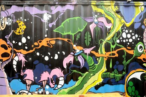 Gelände des Carlswerks in Köln-Mülheim - Graffiti (Detail) (18)