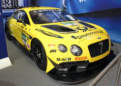 Bentley Touring Car (Schwanzus_Longus) Tags: essen motorshow motor show german germany new modern car vehicle coupe coup uk gb englend english great britain btitisg touring race racing bentley continental gt3 yellow