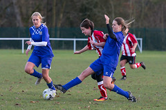 Altrincham LFC vs Stockport County LFC - December 2016-181 (MichaelRipleyPhotography) Tags: altrincham altrinchamfc altrinchamlfc altrinchamladies alty amateur ball community fans football footy header kick ladies ladiesfootball league merseyvalley nwrl nwrldivsion1south nonleague pass pitch referee robins shoot shot soccer stockportcountylfc stockportcountyladies supporters tackle team womensfootball