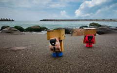 (Eson Huang) Tags: sunset sea seaside nikon dusk taiwan kaohsiung   dando        danboard    d5100