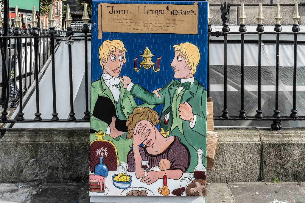 """""""The Sheares Brothers"""" by Hugh Madden [Dublin Canvas - Paint A Box] REF-10805419"""