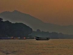 Mekong Evening - Luang Prabang (zorro1945) Tags: sunset river boat asia laos lao mekong luangprabang eveninglight gloaming indochina slowboat louangphrabang