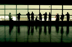 Departure  (Explore 01/09/15) (only lines) Tags: people usa newyork airport watching jfk depature