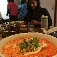 Seafood noodle soup.