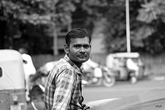 Rickshaw Puller #4 (vtuli77) Tags: street monochrome portraits canon 50mm chandigarh scottkelby niftyfifty canon450d digitalrebelxsi canondigitalrebelxsi worldwidewalk