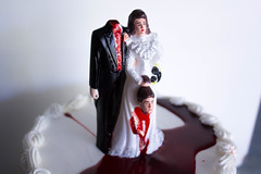 50th Wedding Anniversary Cake (Grace-ful Cakes) Tags: anniversary weddingcake 50thanniversary brideandgroom fakeblood anniversarycake 50thanniversarycake divorcecake divorceddivacaketopper