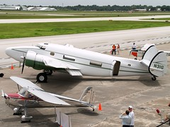 Houston Aeronautical Heritage Society Lockheed L-18-56 Lodestar N31G @ KHOU (MDLPhotoz) Tags: heritage houston lockheed society cessna 140 lodestar aeronautical khou l1856 n31g n1792v