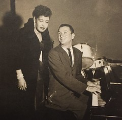 Billie Holiday with Bobby Troup (Zombie Normal) Tags: musicians photography piano jazz hollywood 1950s 1956 billieholiday williamclaxton bobbytroup exposuremagazinedec1989