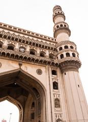One of the minars (ashish.gudla) Tags: india monument construction historic hyderabad charminar nizam